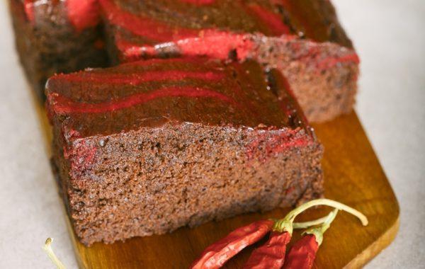 Čokoládový čili brownie